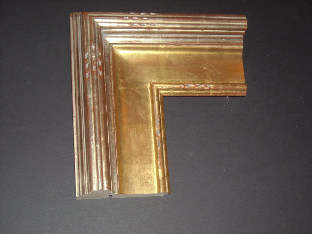 RP14    (5 3/4inch)     decorative trim 22K water laid gold frame