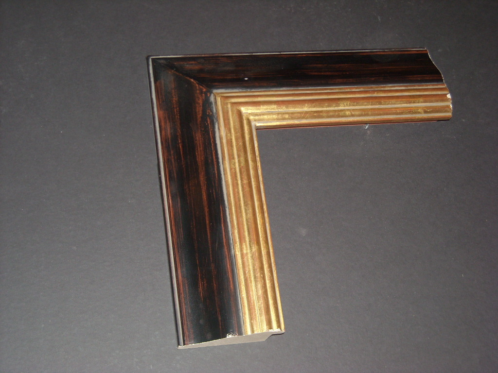 RP17   (3 3/8inch)   custom two-toned gold trimmed frame