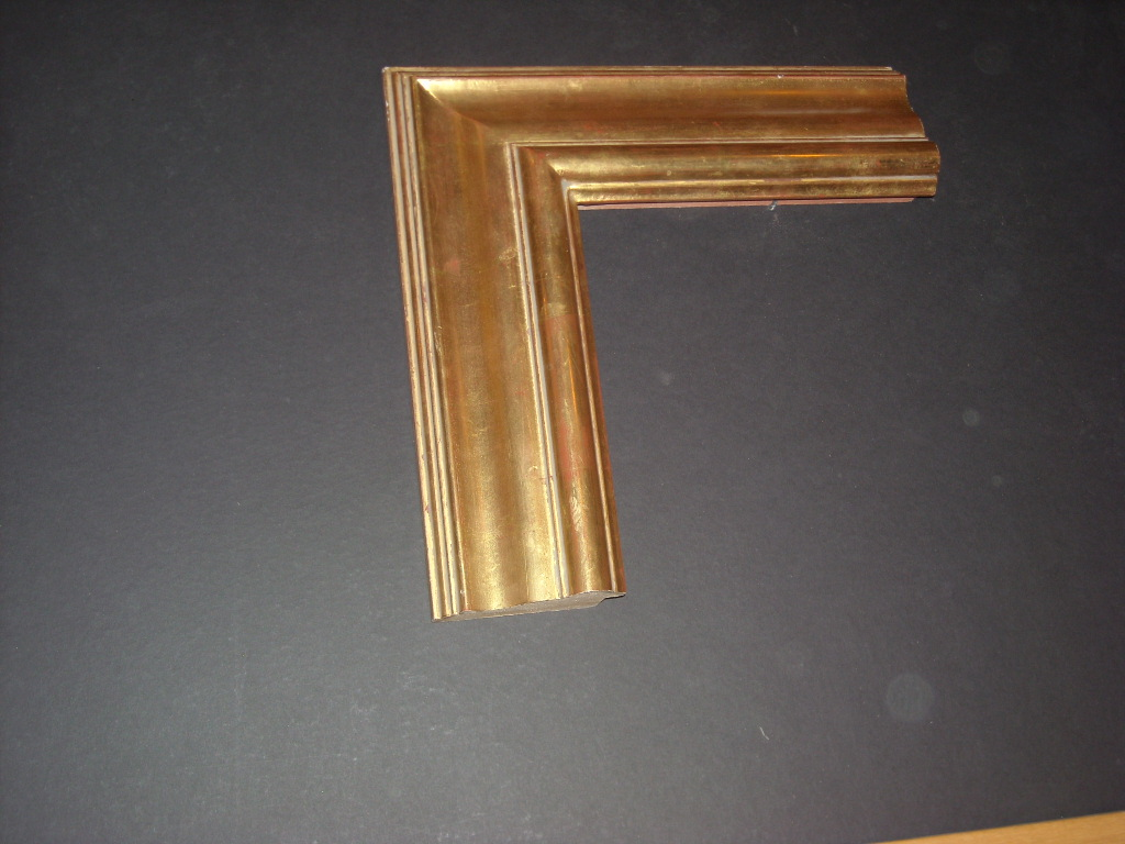 RP193  (3 3/4inch)   raised bevel, wide gold frame