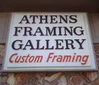 Athens Framing Gallery Location